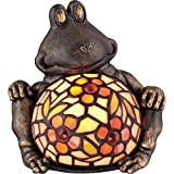 Quoizel TFX1884Y Ashley Harbor Tiffany Sitting Frog Table Lamp - 1-Light - 7 Watts - Bronze (7