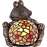 Quoizel TFX1884Y Vintage Tiffany 1-Light Sitting Frog Table Lamp