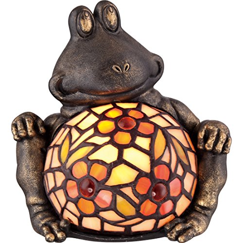 Quoizel TF3694VB Sawback Tiffany Turtle Table Lamp Lighting, 1-Light, 15 Watt, Vintage Bronze 4 H x 11 W