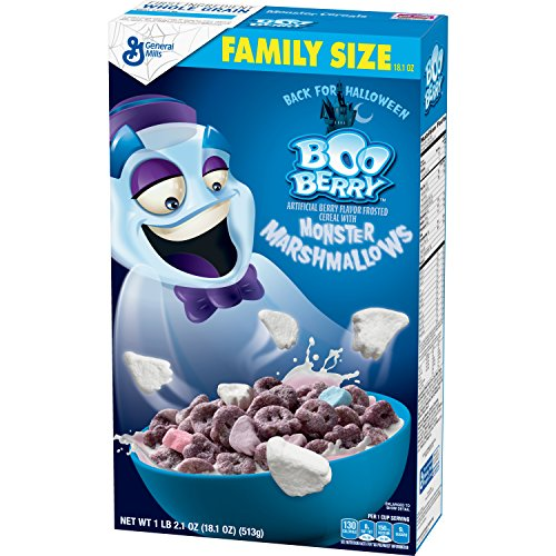 General Mills Cereals Boo Berry Artificial Berry Flavor Frosted Cereal With Monster Marshmallows, 18.10 Oz