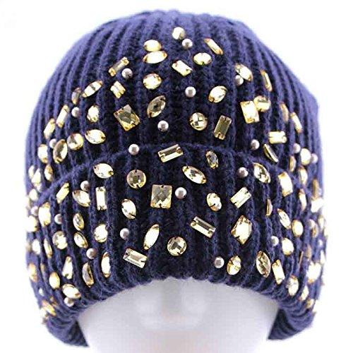 Maozi Las 2 Fashion 3 de Occidental Gorro de de Lana señoras Invierno Punto Sombrero Sombrero rrqdwa6U