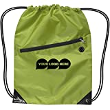 CloseoutPromo Drawstring Backpack W/Zipper - 150 Quantity - $2.55 Each - PROMOTIONAL PRODUCT/BULK/BRANDED with YOUR LOGO/CUSTOMIZED. Size: 17'' H x 13'' W