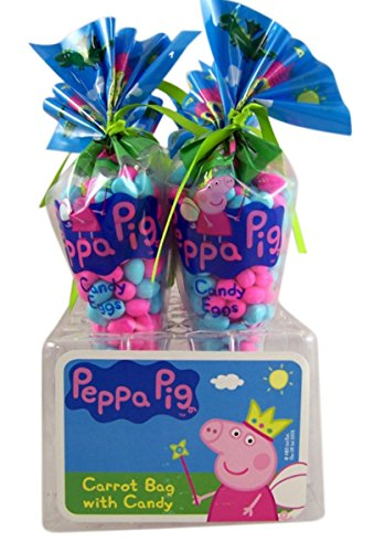 Peppa Pig Candy Eggs in Carrot Shaped Bag Easter Basket Stuf