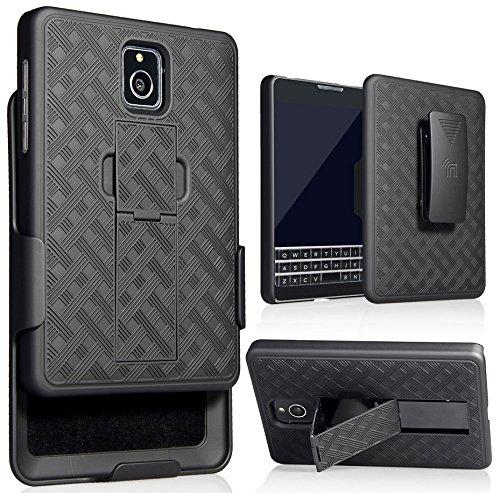 sale retailer dbe7c f2a64 Nakedcellphone Blackberry Passport Holster Case, Black Kickstand Cover +  Belt Clip Combo for Blackberry Passport (ONLY FOR AT&T VERSION, MODEL ...