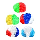 Baoblaze Football National Team Afro Wig World Cup Soccer Game Fans Party Costume Pack of 5