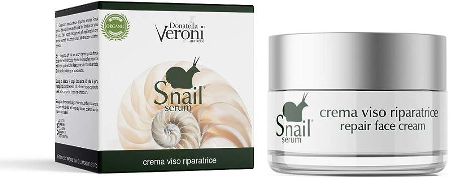 Donatella Veroni - Baba de caracol patentada, crema facial orgánica, 50 ml