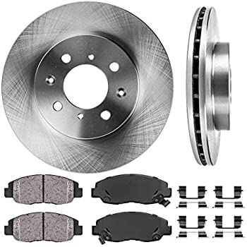 Prime Choice Auto Parts RSCD4297-4297-465A-2-4 Front Set of 2 Brake Rotors /& 4 Ceramic Pads
