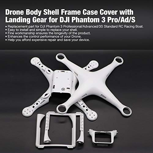 Wikiwand Drone Body Shell Frame Case Cover with Landing Gear for Phantom 3 Pro/Ad/S by Wikiwand (Image #1)
