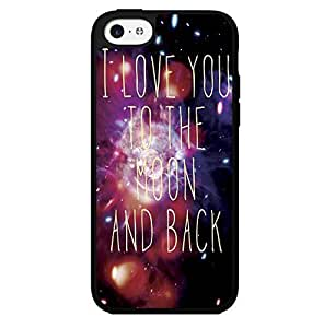 I Love You to the Moon and Back Galaxy Nebula Hard Snap on Phone Case (iPhone 5c)