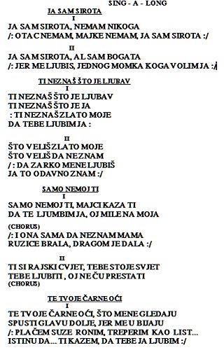 Croatian And Serbian Song Book Edo Sindicich 0641938334005 Amazon