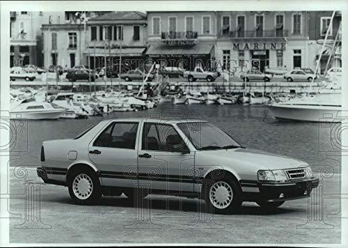 - Vintage Photos 1989 Press Photo Saab 9000 Turbo CD Sedan. - mjt19628