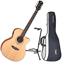 Luna Heartsong GC USB Acoustic Guitar w/ Gig Bag and Stand
