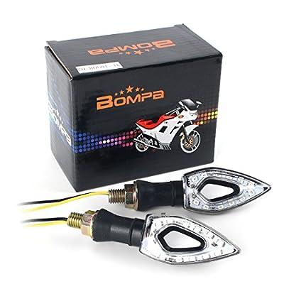 Bompa 2pcs LED Turn Signal Lights Motorcycle Indicators Blinker Amber Light Universal 12V for Harley Honda Yamaha Suzuki (Turn Signal Lights G): Automotive
