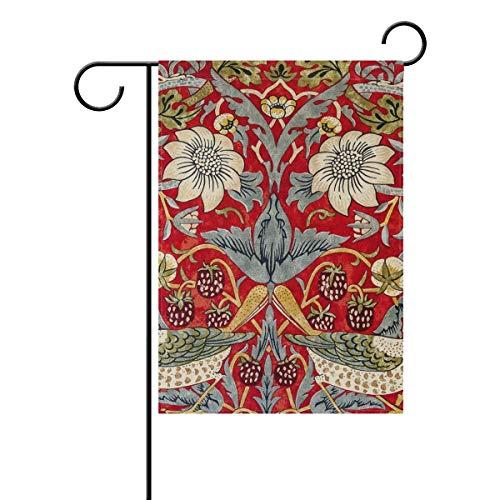 (Anhuishop William Morris Strawberry Thief Garden Flag 12.5