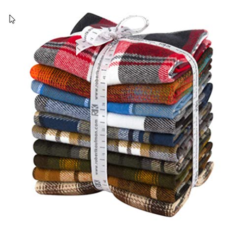 - Studio RK Durango Flannel Fat Quarter Bundle 10 Precut Cotton Fabric Quilting FQs Assortment Robert Kaufman FQ-1405-10