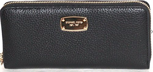 8fbbffbaf4ce Michael Kors Jet Set Travel Zip Around Pebbled Leather Wallet