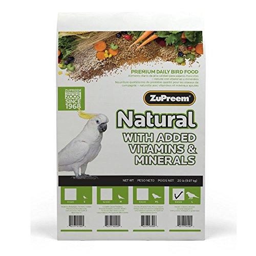 Zupreem 230358 Natural Large Bird Food, 20-Pound