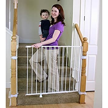 Amazon Com Regalo 2 In 1 Extra Tall Top Of Stairs Gate Meets All