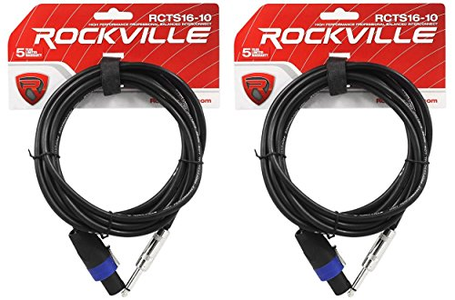 2 Rockville RCTS1610 10' 16 AWG 1/4