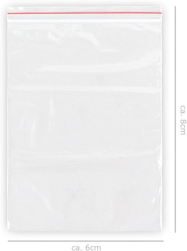 Sachets avec fermeture par pression Fermeture Rapide Pochette Pochette transparente emballage Sacs Sac Sac /à fermeture /éclair Transparent ALSINO 80 x 120 mm Lot de 1000