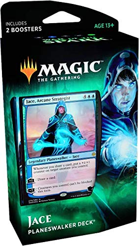 - Magic The Gathering: MTG: War of the Spark Planeswalker Deck - Jace (Blue/Green) w/Two Booster Packs