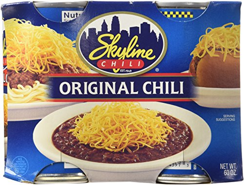 8 Pack Skyline Chili Original 15oz Cans - Chili Cheese Hot Dogs