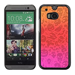 LASTONE PHONE CASE / Carcasa Funda Prima Delgada SLIM Casa Carcasa Funda Case Bandera Cover Armor Shell para HTC One M8 / Cool Pink Red Orange Autumn