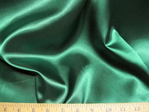 Swatch Sample Discount Fabric Satin 65 inches wide Choose your Color Emerald Green