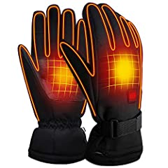Men Woman Electric Gloves with 3.7V Rechargeable Battery Thermal Heated Gloves for Men Women Perfect for Walking/Hiking/Sleeping/Riding `Rechargeable Electric Battery Heated Gloves,Men&Women Outdoor Hiking Skiing Camping Cycling Motorcycl...