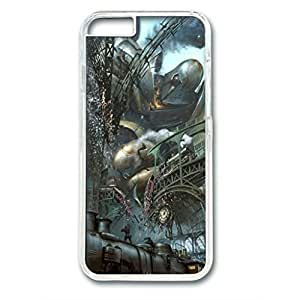Iphone 6 (4.7Inch) PC Hard Shell Case Steampunk Train Station Transparent Skin by Sallylotus by mcsharks