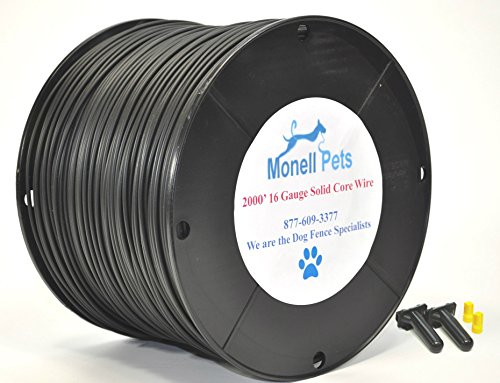 16 Gauge Heavy Duty Superior Pro Dog Fence Wire 2000 Ft Continuous Wire by Monell Pets