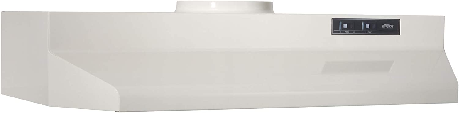 Broan-NuTone 422402 Convertible Range Hood Insert with Light, Exhaust Fan for Under Cabinet, 6.5 Sones, 160 CFM, Bisque, 24""