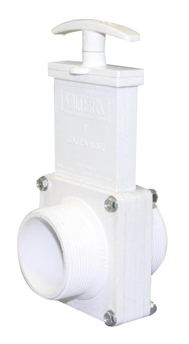 Valterra 4204 PVC Gate Valve 2 MPT 2 MPT Valterra Products White