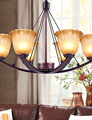 Modern retro luxury Chandeliers 5 Chandelier , Rustic/Lodge Painting Feature for Mini Style Metal Living Room / Bedroom / Dining Room , 110-120v