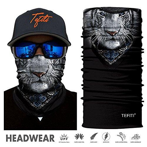 TEFITI Headwear - CocoCap Versatile Sports & Casual Headbands - Stretchable Face Shield Bandana Scarf Neck Gaiter - Sports Shield