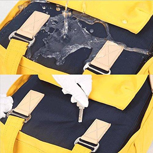à Voyage Sacs Collège Sacs étanches à De Femmes Sacs Dos Sacs Dos à Dos Sacs Tissu En à Sacs De rayures Décontractés Sacs Sacs Pour En PU Mode Sacs Yellow Anti L'eau Oxford EBUqa