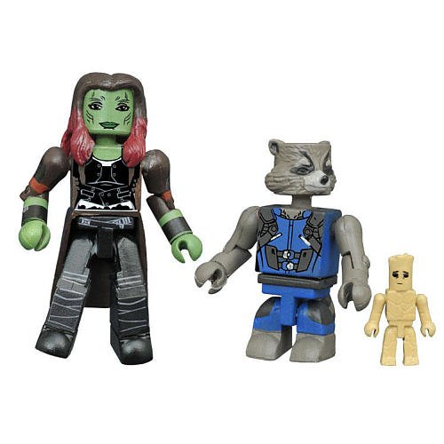 Marvel Minimates Series 71 Wave 1 Guardians of the Galaxy Vol.2 Gamora & Rocket with Groot 2 Pack
