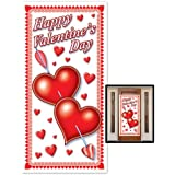 Beistle 70010 Happy Valentine's Day Door Cover, 30-Inch by 5-Feet, 1 Per Package