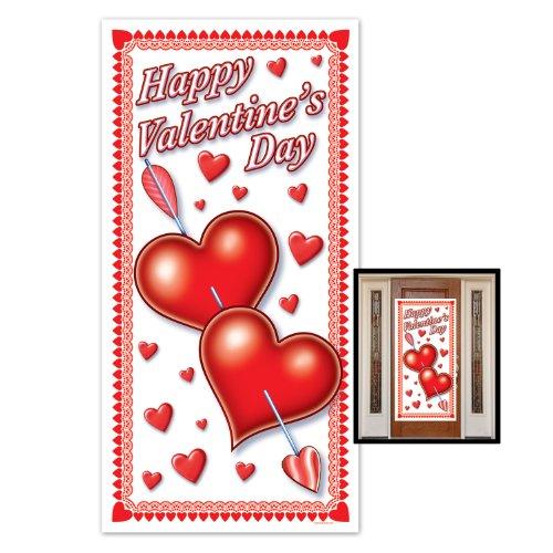 Beistle 70010 Happy Valentine's Day Door Cover, 30-Inch