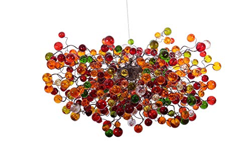Modern Chandeliers - Amber Shades of Light - Bubble Chandelier - Hanging Light - Large lamp Shades