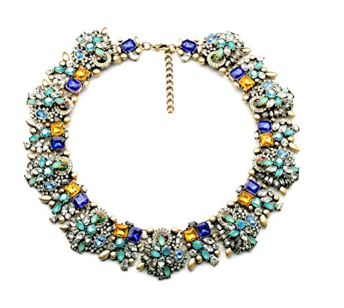 Fun-Daisy-New-Design-Jewelry-Vintage-Grand-Choker-Rhinestones-Fashion-Necklace