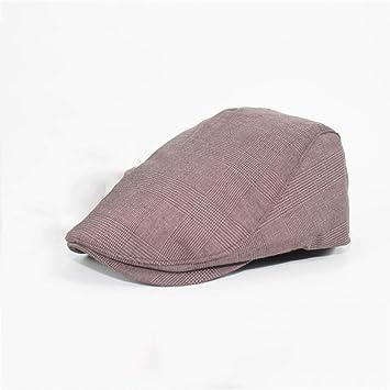Color : Dark Coffee GYH MaoZi LJHA Flat Duckbill Hat Newsboy Driving Cap 57-60CM Elastic Size 3 Colors