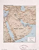 Map Poster - Arabian Peninsula and vicinity. 16'' x 20''