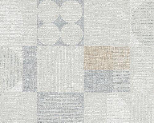 Livingwalls Tapete Titanium Retro-Mustertapete beige grau metallic 306441