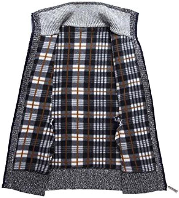perfectii ciepła kurtka męska kurtka z dzianiny zamkiem błyskawicznym Cardigan oraz grubość Polar-wewnętrzna strona stÓjką bluza bluza sweter sweter kurtka zimowa kurtka: Odzież