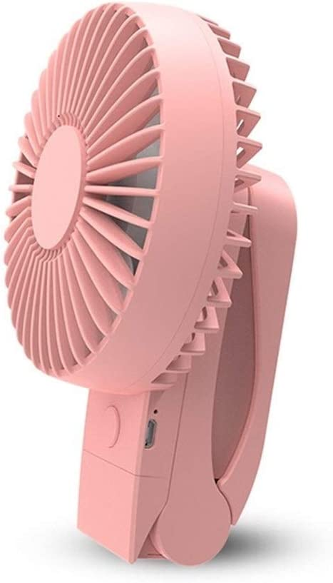Air Cooler 360 Degree Rotating Clip Fan USB Portable Folding Mini Fan Children Handheld Personal Fan Table Fan Color : Pink