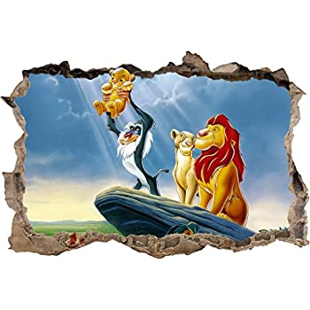 LION KING Simba Smashed Wall Decal Graphic Wall Sticker Decor Art Disney  H384, Large