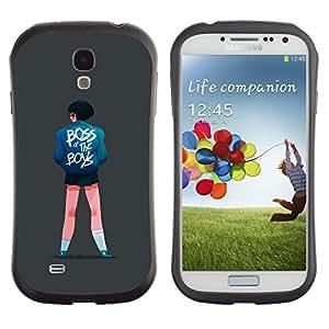 LASTONE PHONE CASE / Suave Silicona Caso Carcasa de Caucho Funda para Samsung Galaxy S4 I9500 / Boss Girl Quote Boys Street Style Fashion Art
