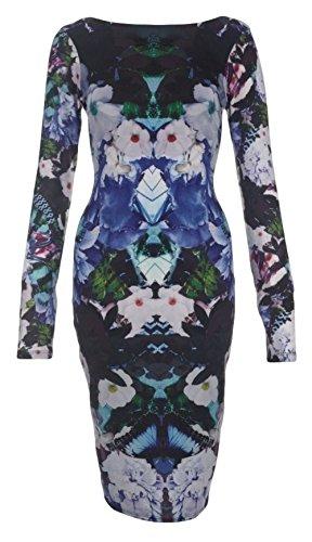 Lipsy - Vestido - para mujer Floral Azul