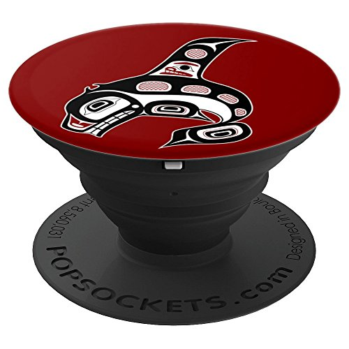 Northwest Pacific coast Haida art Killer Whale - PopSockets Grip and Stand for Phones and (Killer Whale Art)
